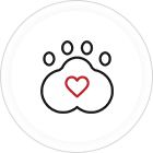 A paw graphic for Spinning Pet Yarn
